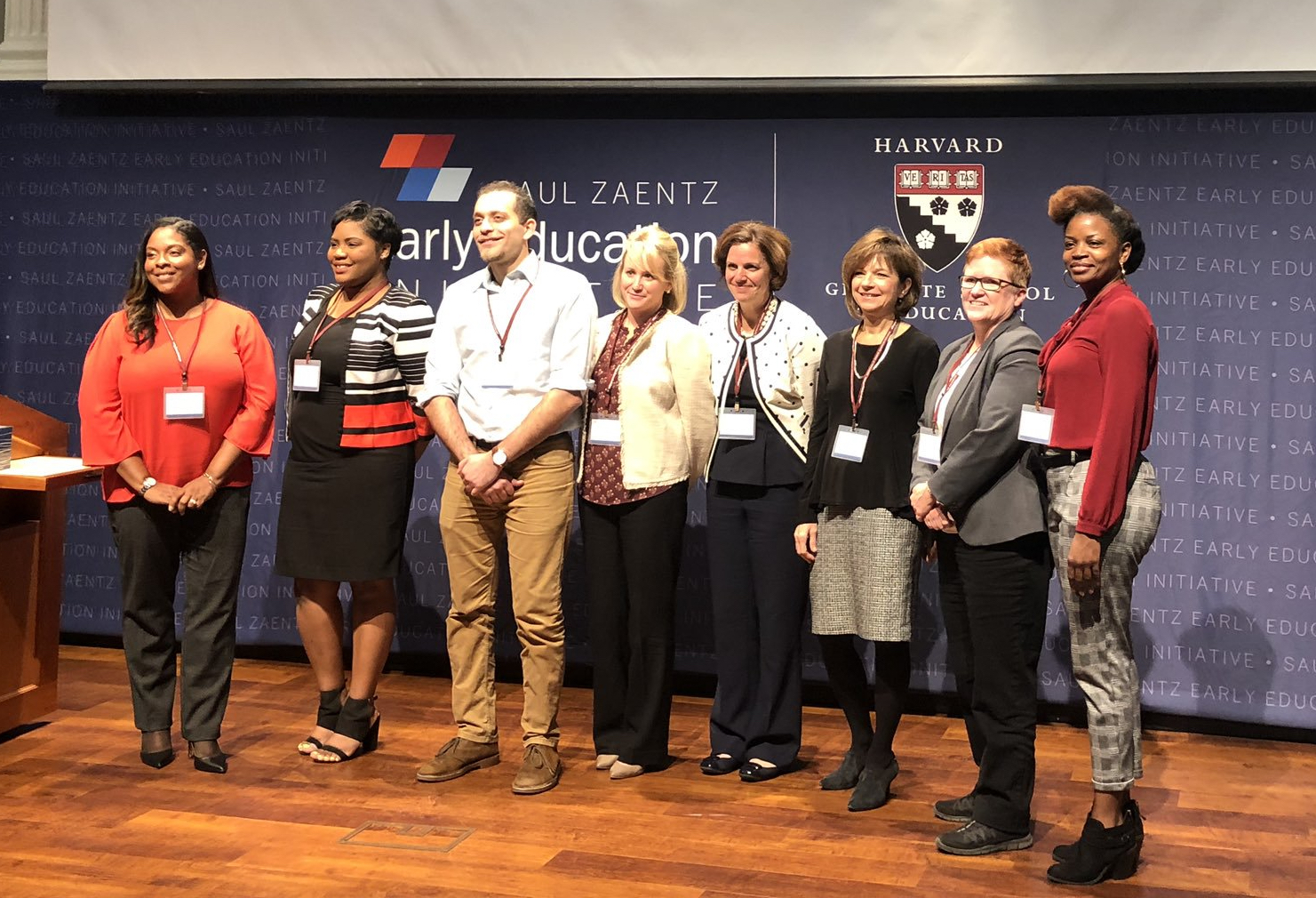 "Frazer's Tonja Holder and Susie Riddick (R) with other winners of the Zaentz Innovation Challenge ""Ideas"" Track"